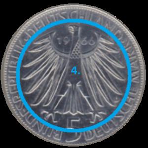 Hoheitsymbol einer Münze