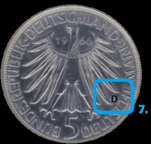 Prägestätte einer Münze Münzmeisterzeichen