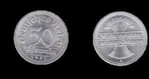 50 Pfennig Stück der Weimarer Republik