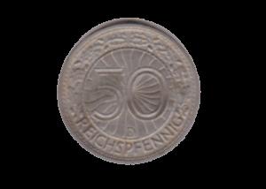 Nickelmünze Weimarer Republik 50 Pfennig