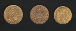 Goldmünzen aus dem deutschen KaiserreichGoldmünzen aus dem deutschen Kaiserreich